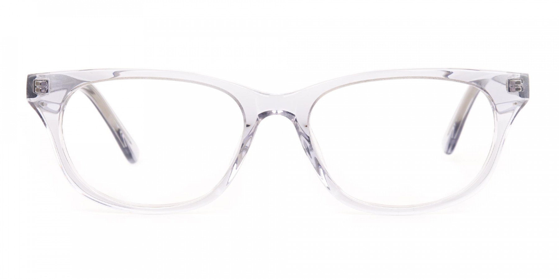 Grey Crystal Rectangular Glasses Unisex-1