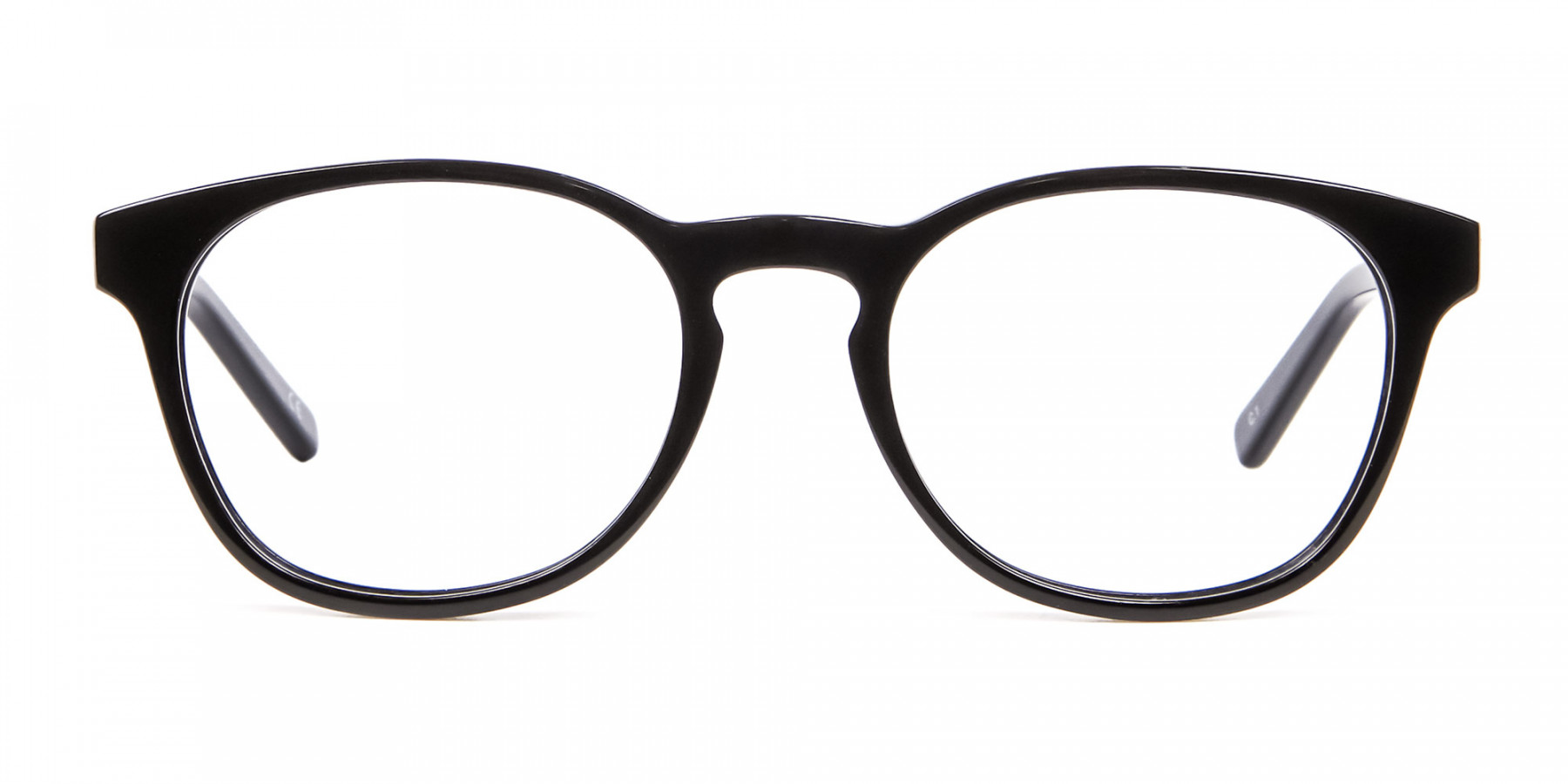 Round Shape Glasses in Black- 1