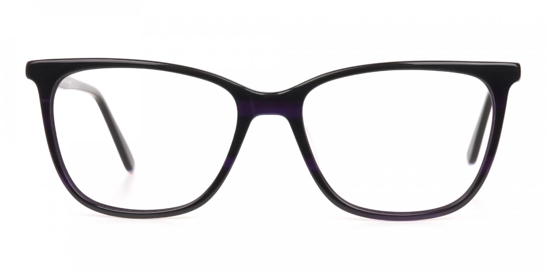Designer Dark Violet Marble Eyeglasses Unisex-1
