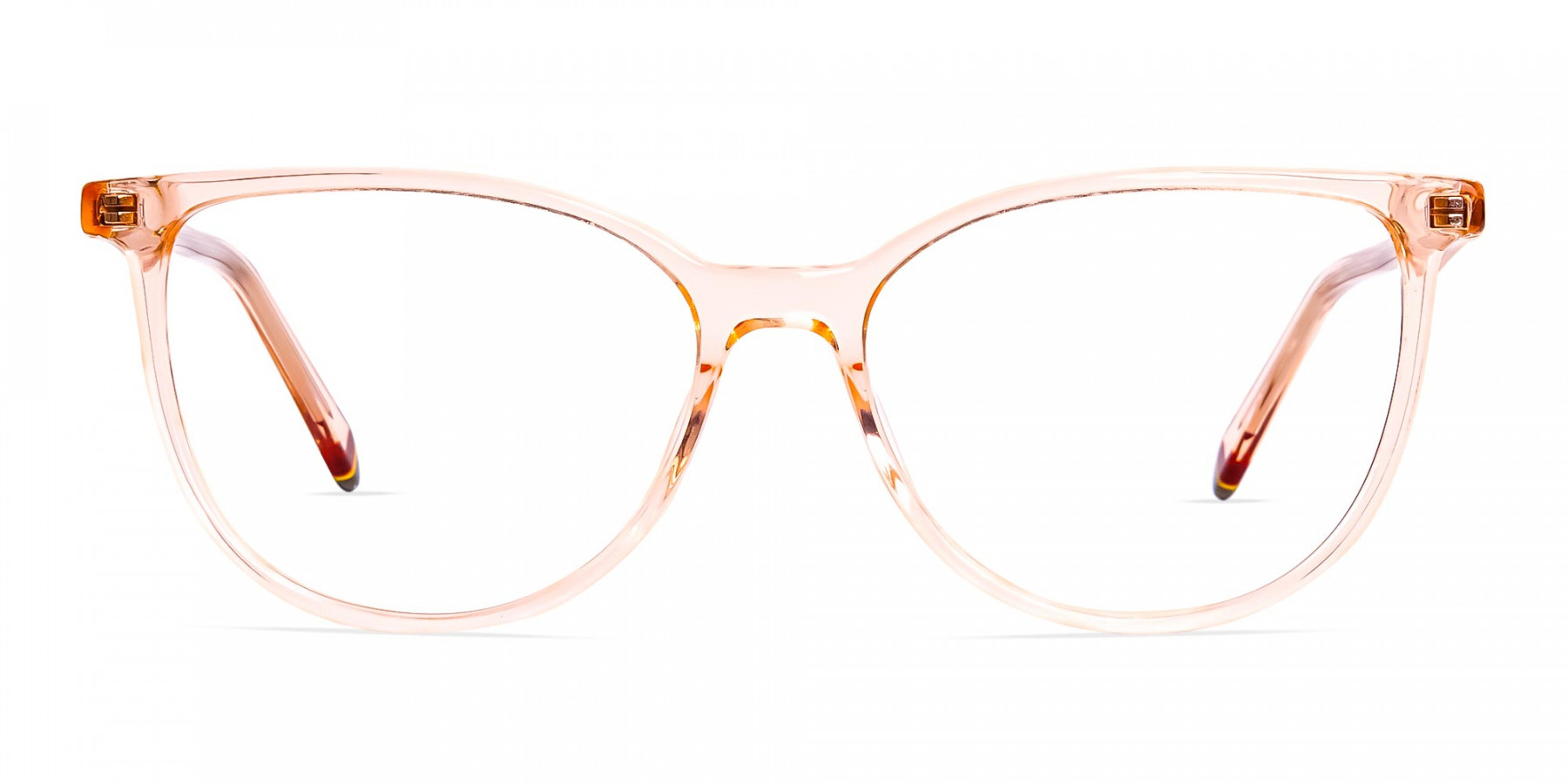 Orange-Colour-Crystal-Clear-or-Transparent-Cat-eye-Glasses-Frames-1