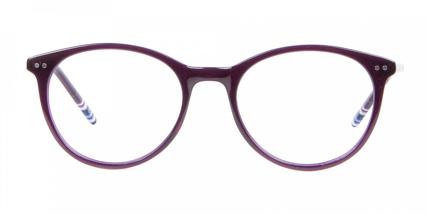 Purple Round cosmopolitan Eyeglasses