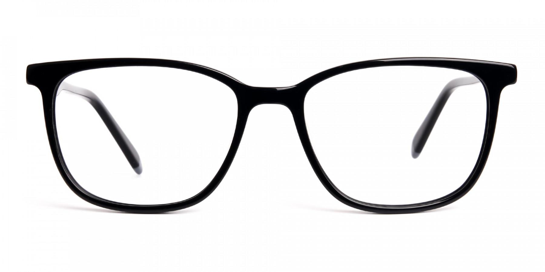 New-shiny-and-glossy-Black-Wayfarer-and-Rectangular-Glasses-Frames-1