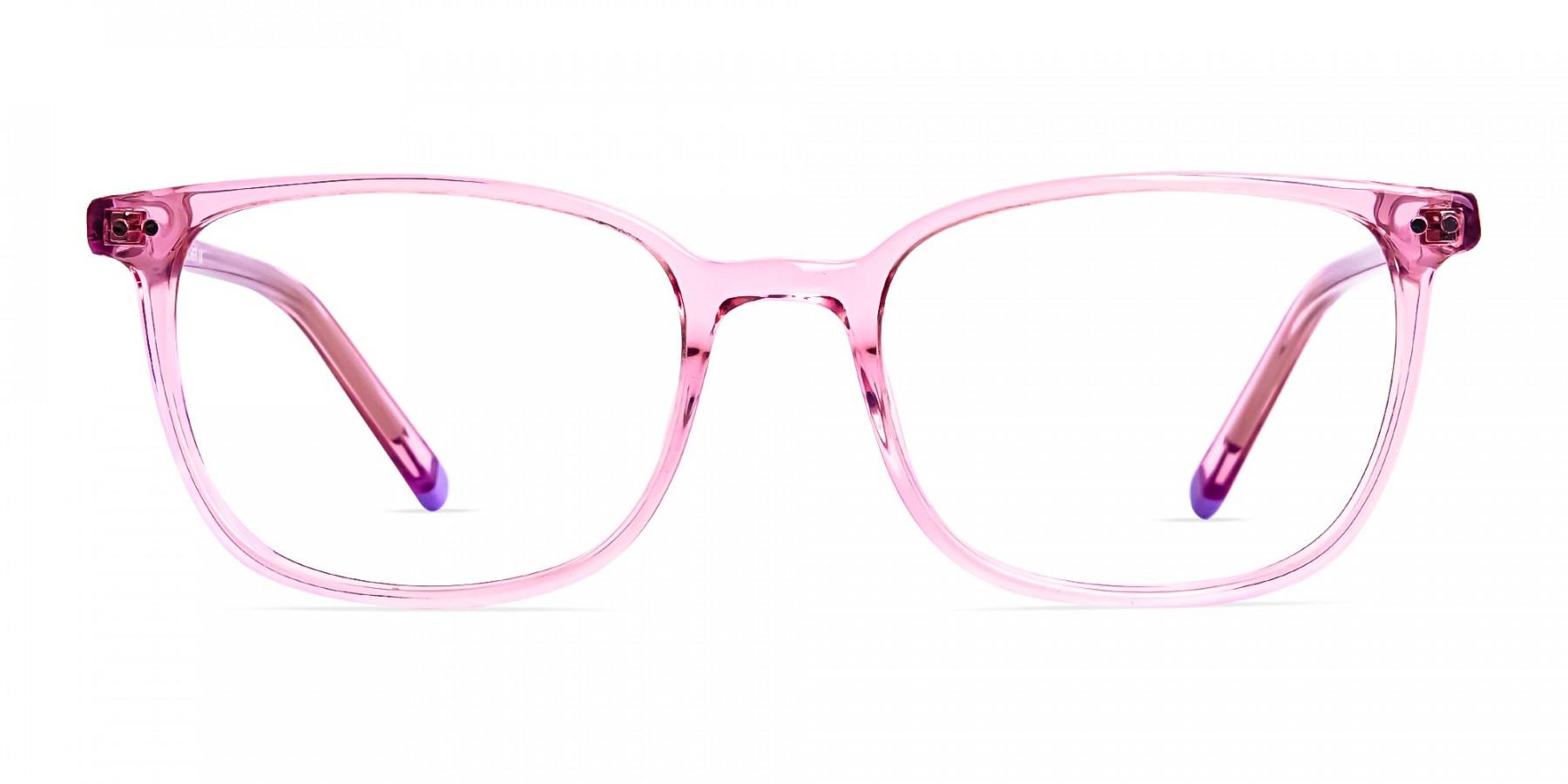 Transparent-Pink-Rectangular-Glasses-frames-1