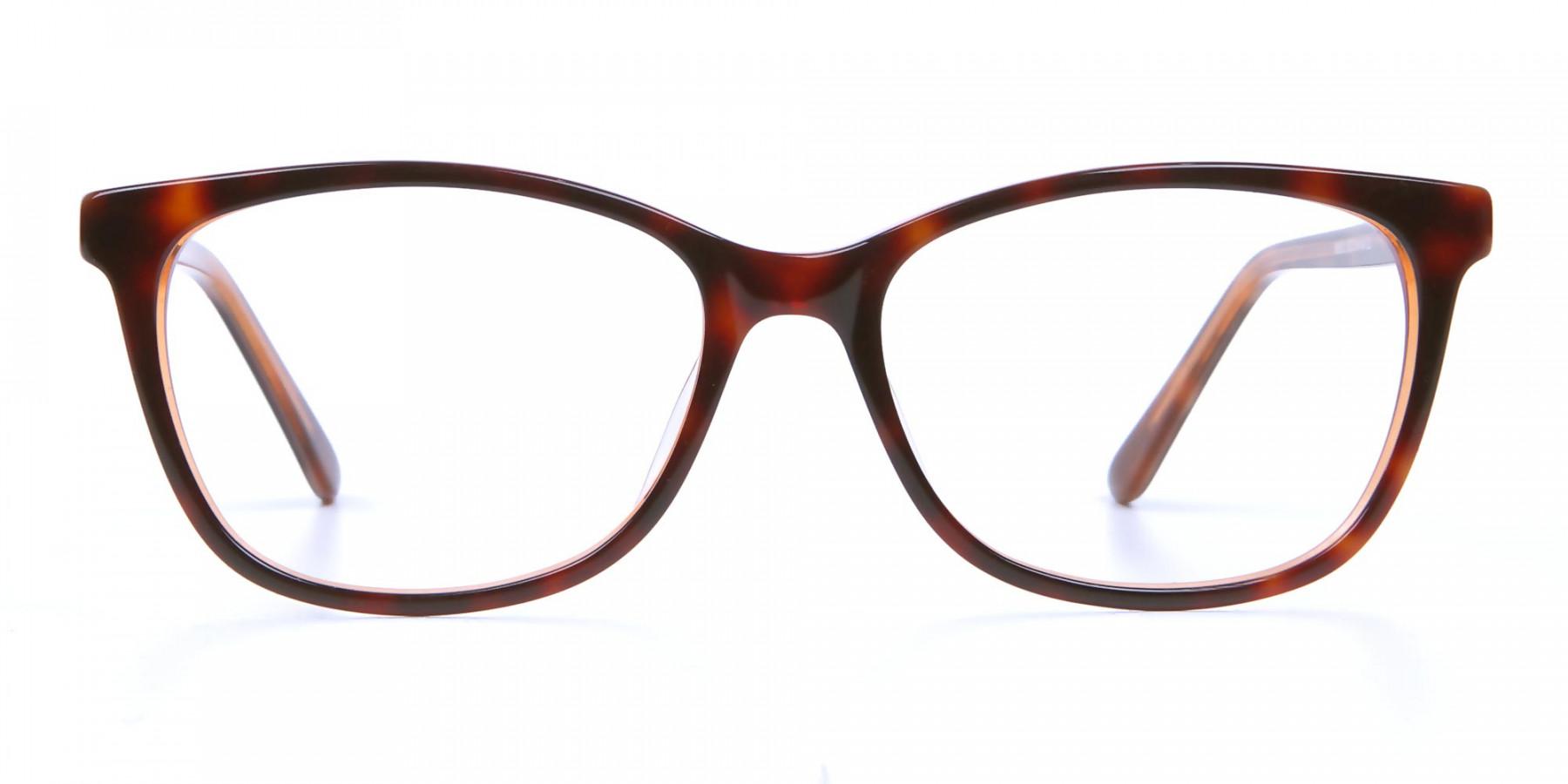 Maple Tortoiseshell Glasses with Diamante