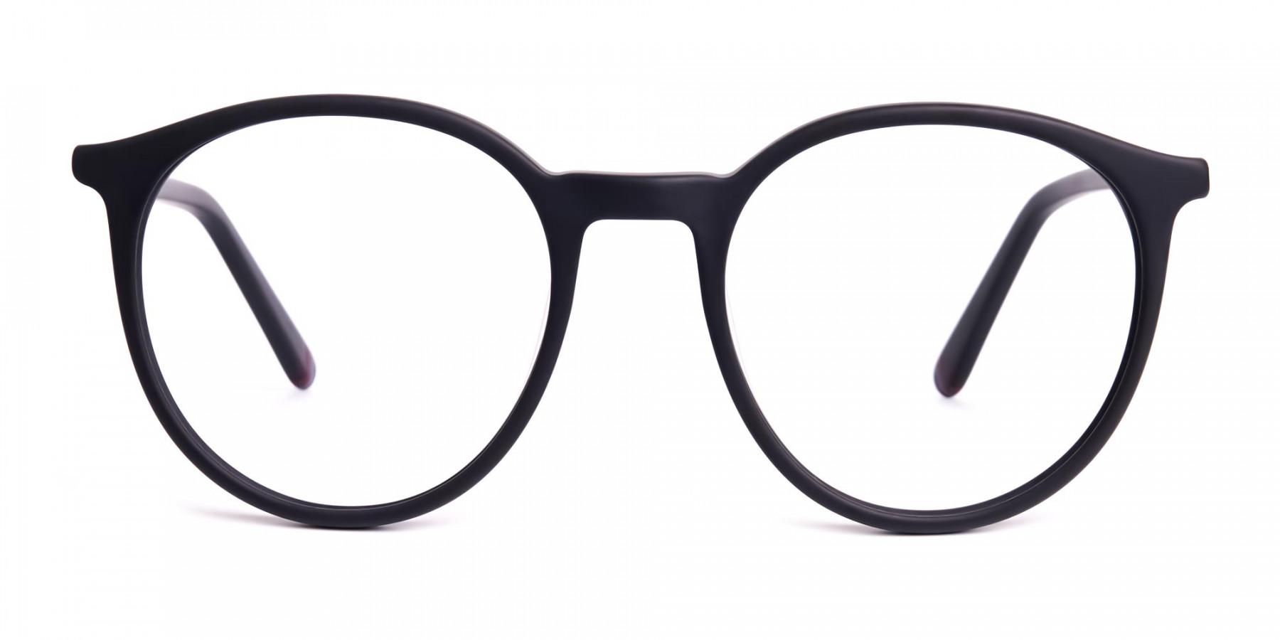 Matte-black-full-rim-Round-Glasses-frames-1
