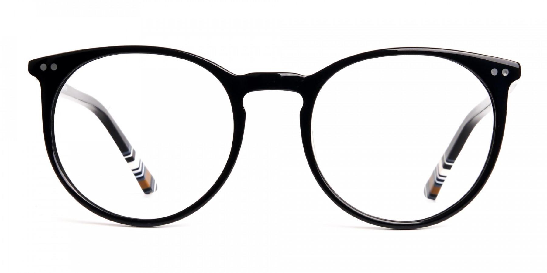 Black-Round-Designer-Glasses-frames-1