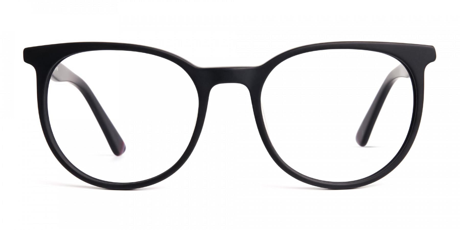 Designer-matte-Black-Full-Rim-Round-Glasses-Frames-1