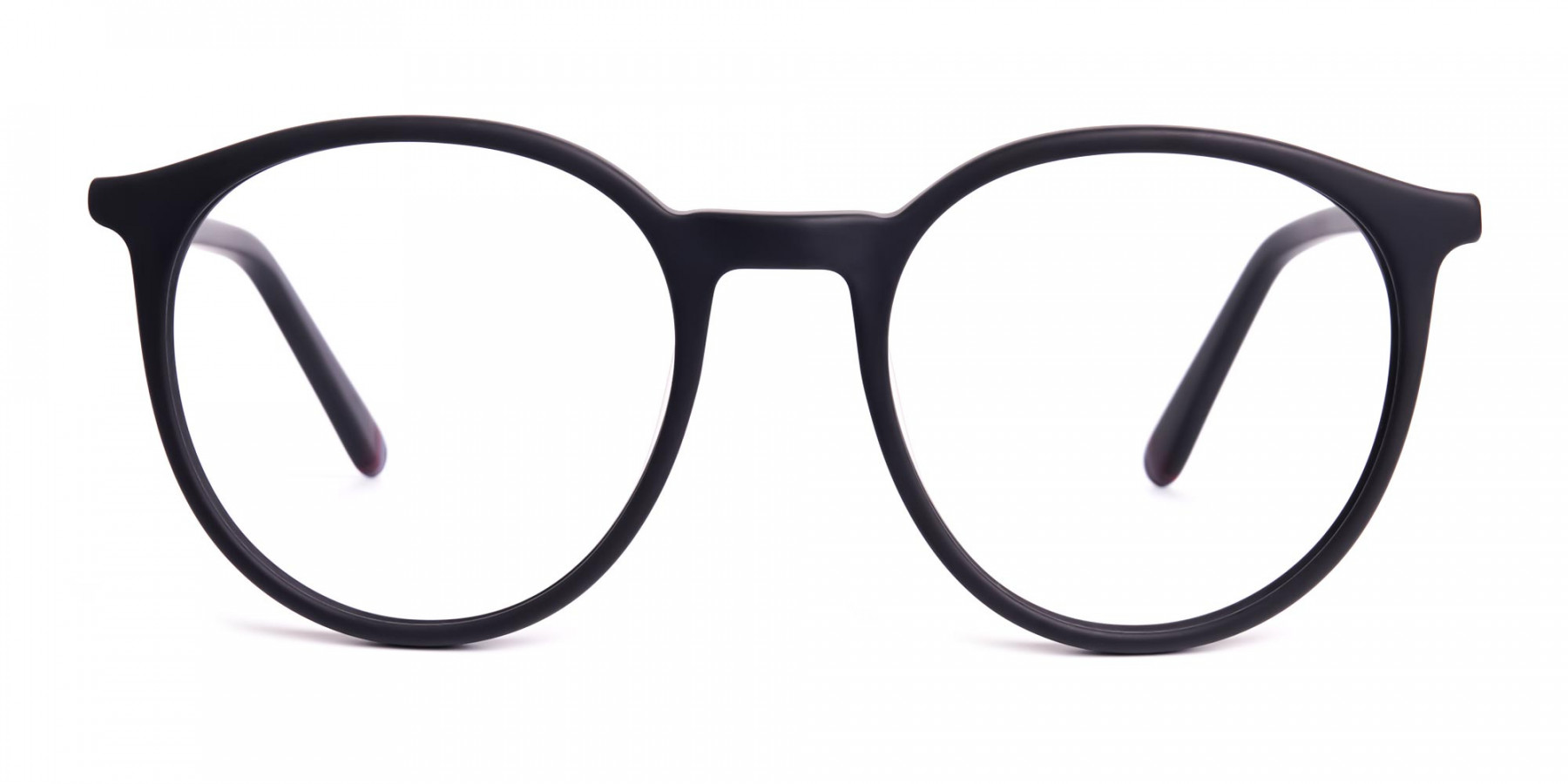 Matte-black-full-rim-Round-Glasses-frames-1