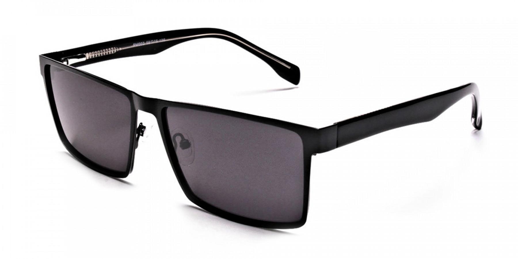 Black Wayfarer Sunglasses for Men and Women - 2