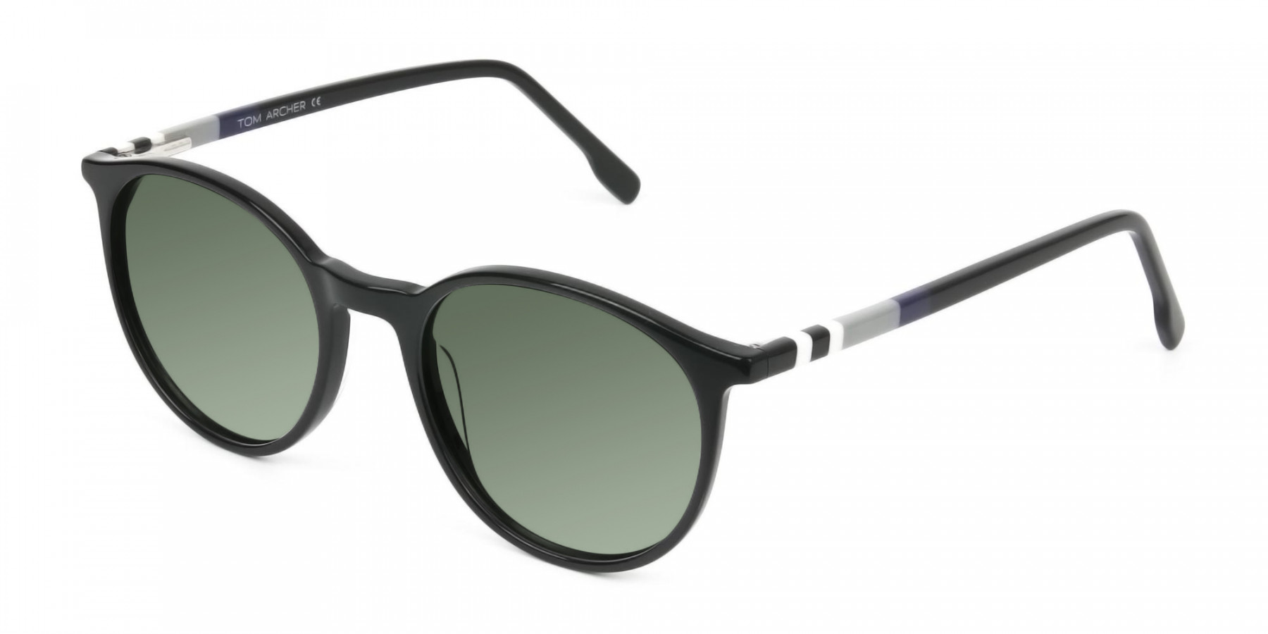 Dark-green-black-round-sunglasses - 3