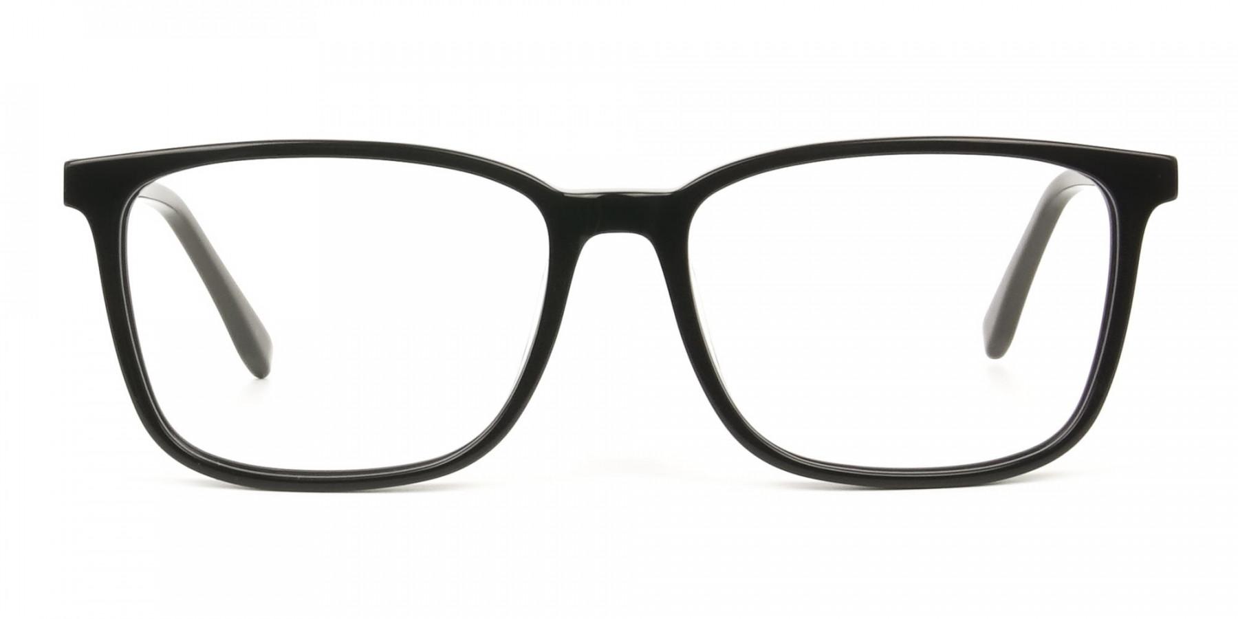Rectangular Sporty Looks Black Casual Glasses - 1