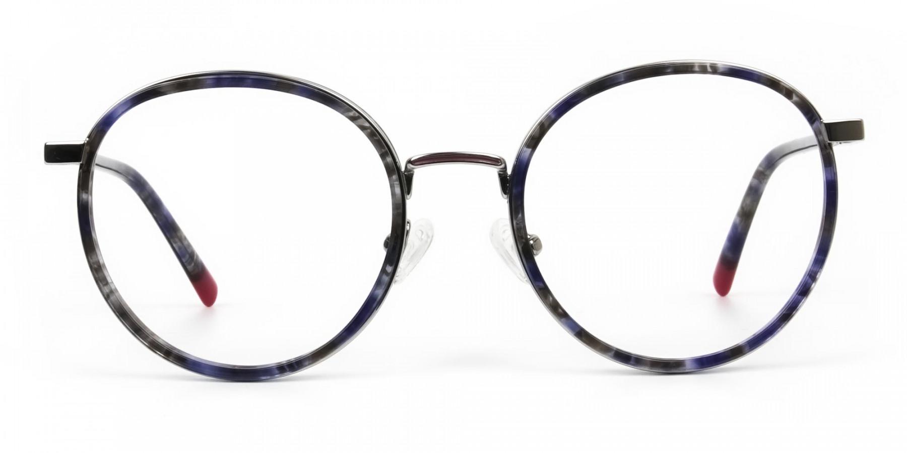 Ocean Blue Tortoise & Silver Eyeglasses - 1