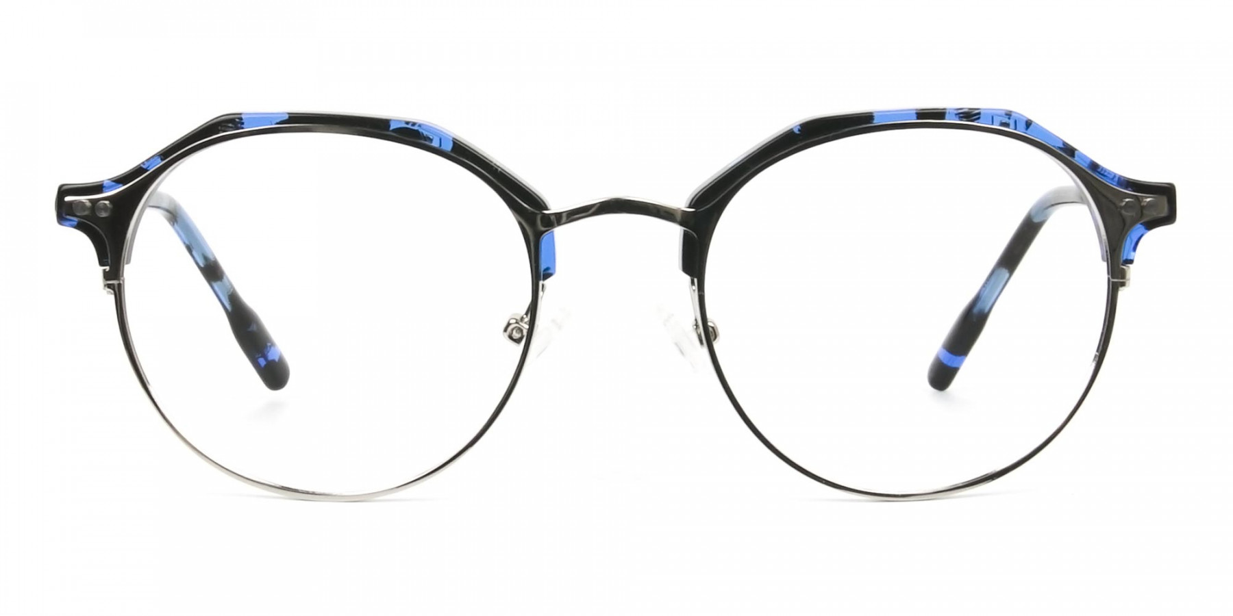 Blue Marble & Silver Weightless Tortoiseshell Glasses  in Mixed material - 1