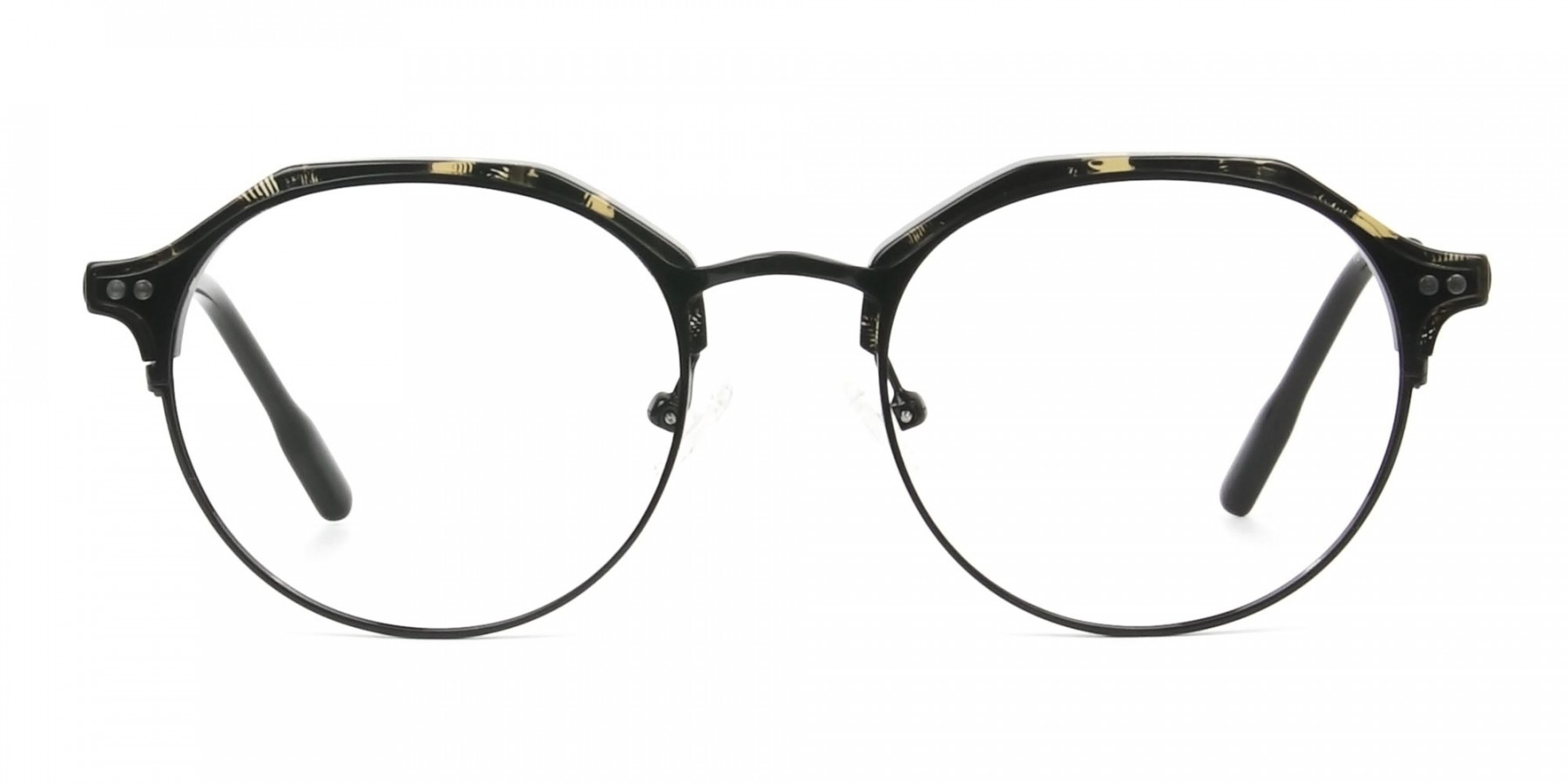 Black Marble Weightless glasses in Mixed Material - 1