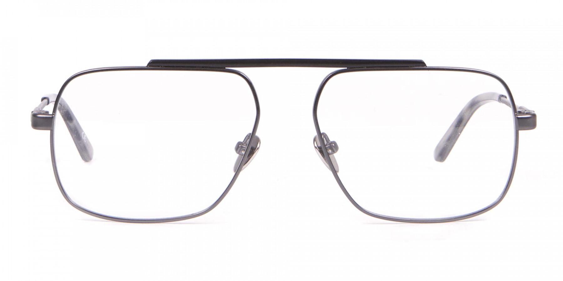 Calvin Klein CK18106 Black & Gun Metal Glasses Rectangular-1