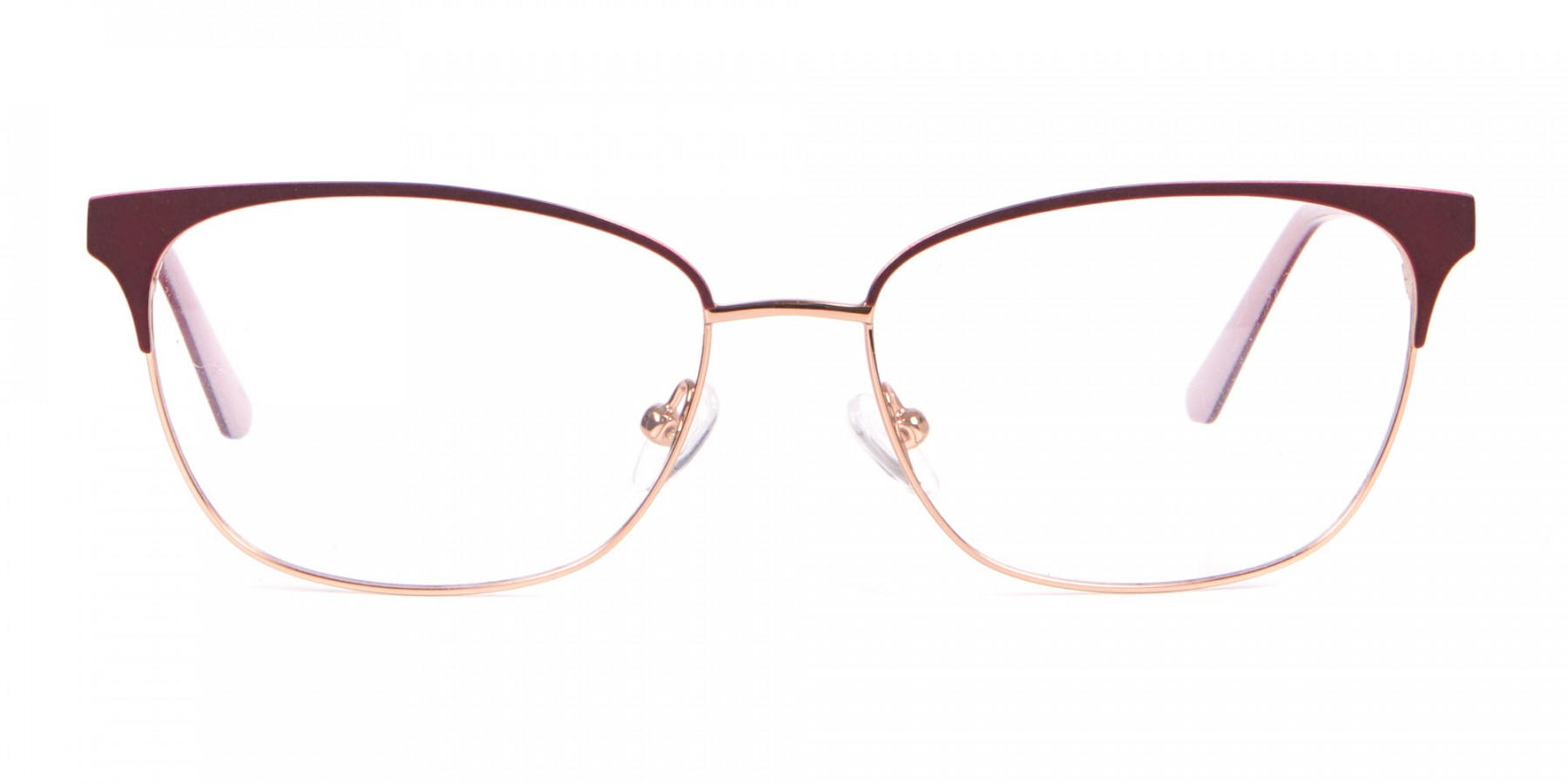 Calvin Klein CK18108 Women Rectangular Metal Glasses Red-1