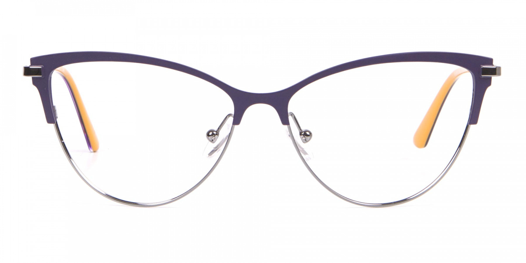 Calvin Klein CK19111 Women Cat-Eye Browline Glasses Purple-1