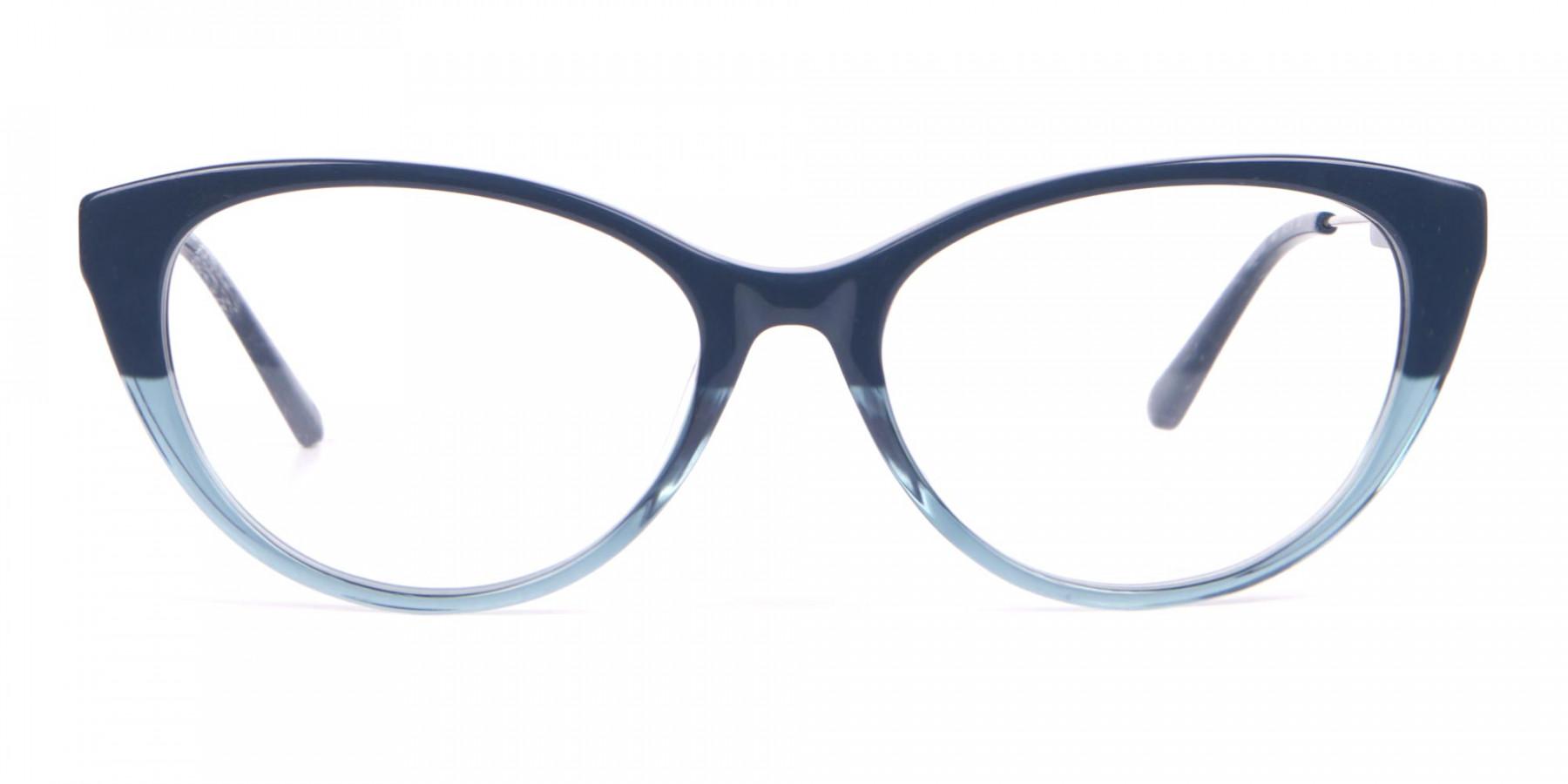 Calvin Klein CK19706 Women Two Tone Cat-Eye Glasses Blue-1