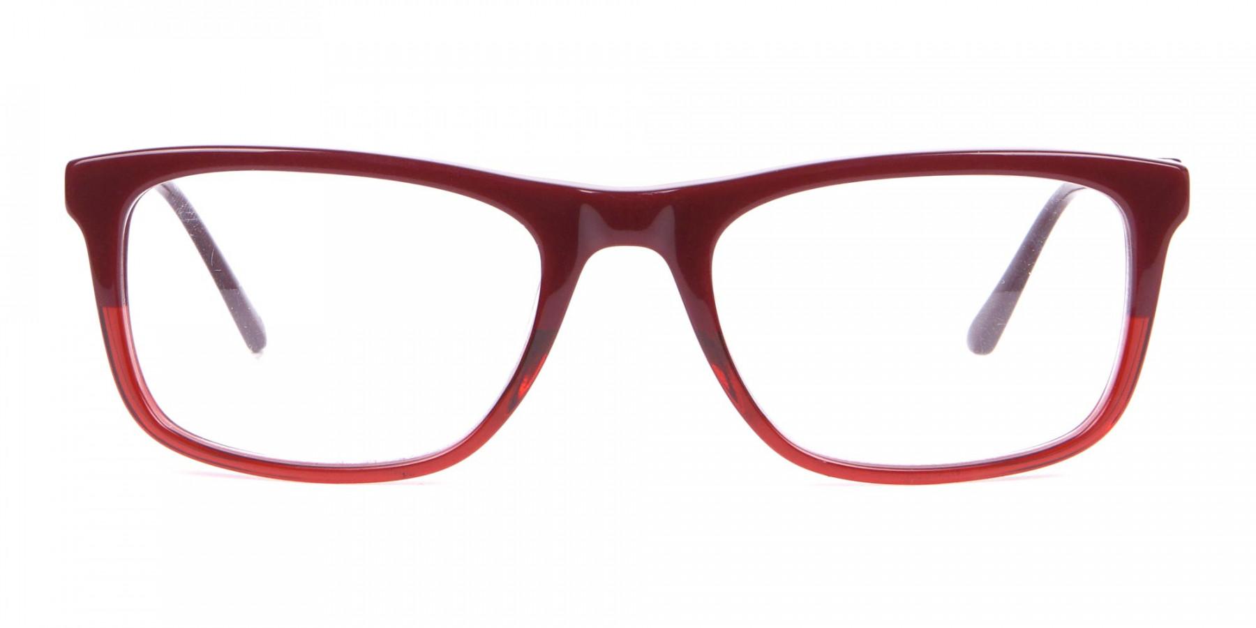 Calvin Klein CK19707 Two-Tone Rectangular Glasses Red-1