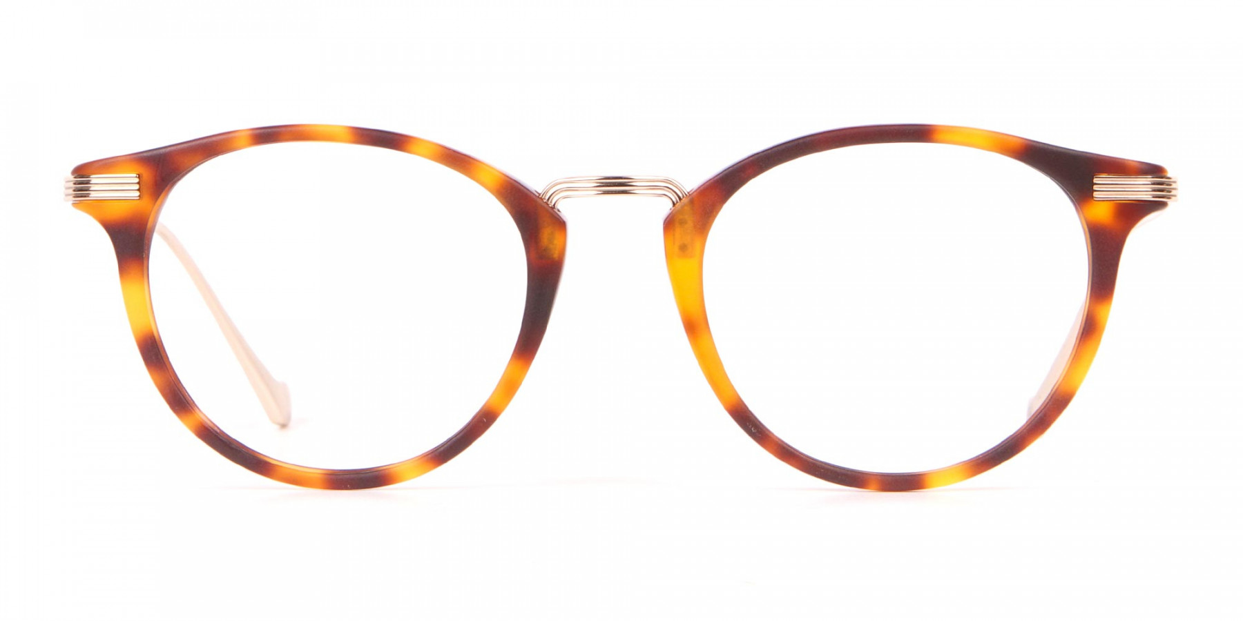 HACKETT Bespoke HEB173 Retro Round Glasses Tortoise & Gold-1