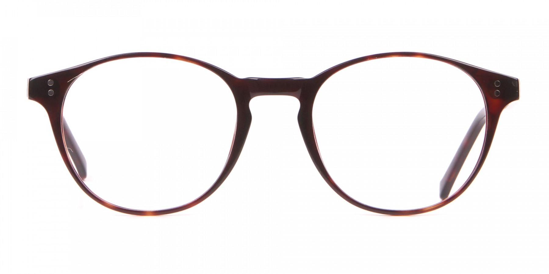 HACKETT Bespoke HEB218 Petite Round Glasses In Tortoise -1