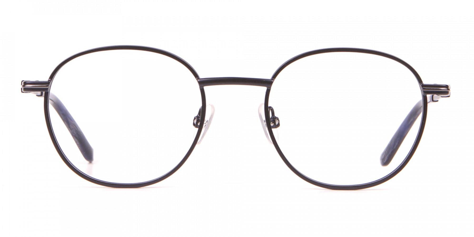 HACKETT HEB222 Bespoke Metal Classic Round Glasses Blue-1