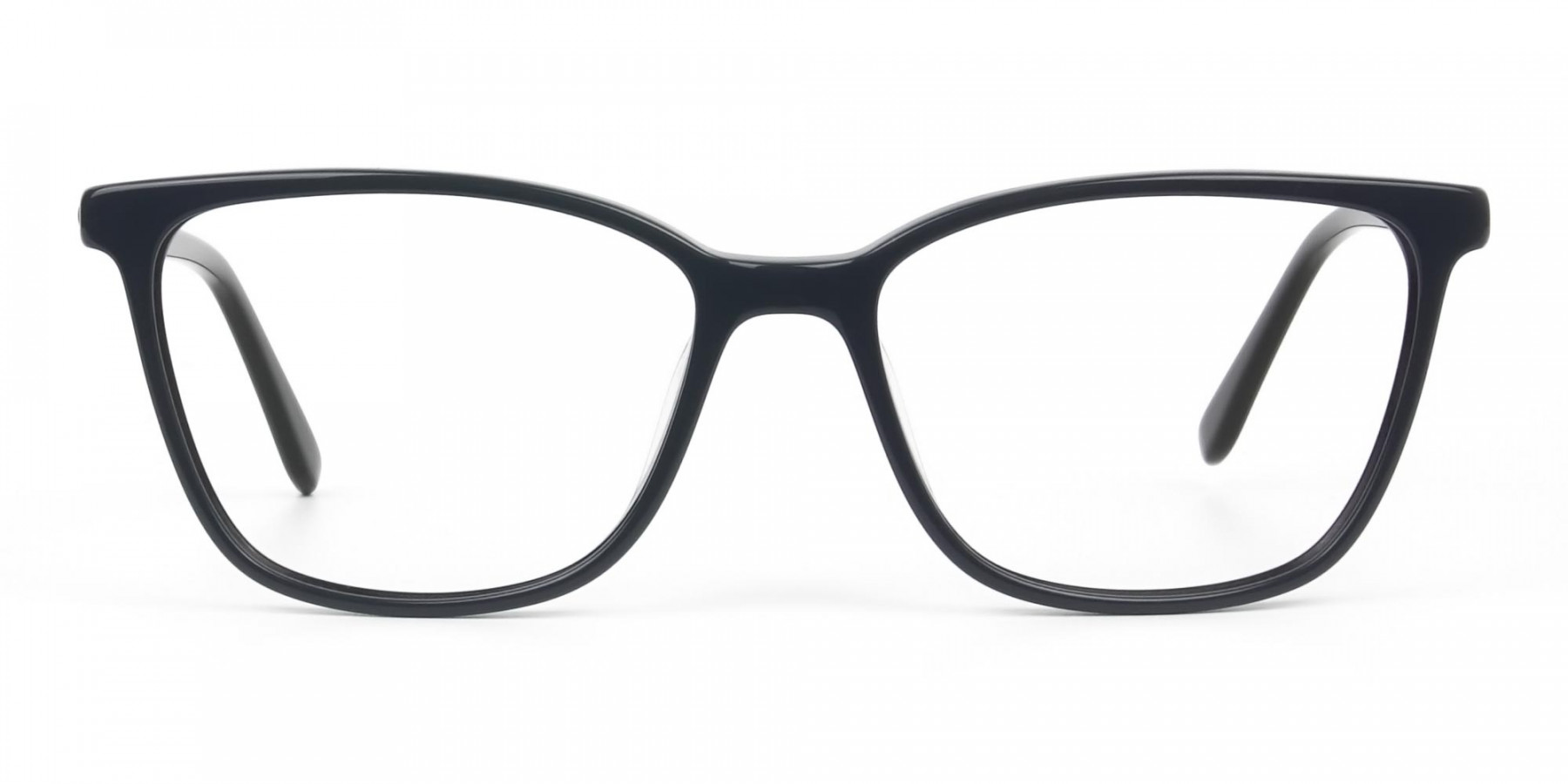 Acetate Classic Blue Spectacles in Rectangular - 1