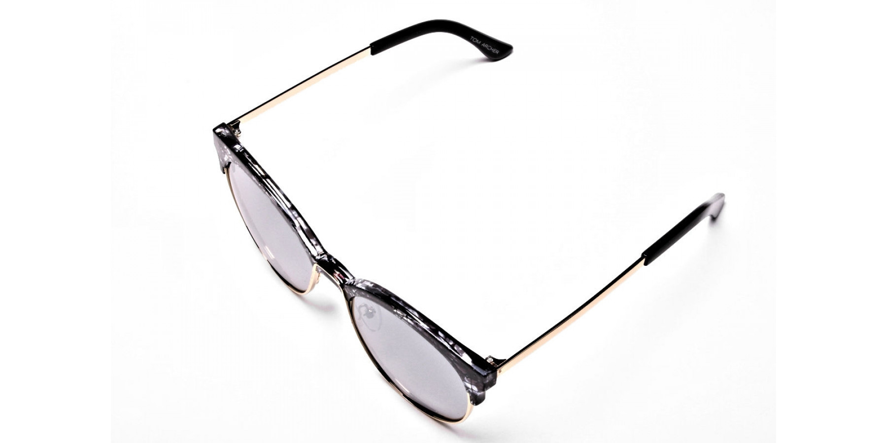 Gold & Silver-Grey Marbled Bowline Sunglasses -2