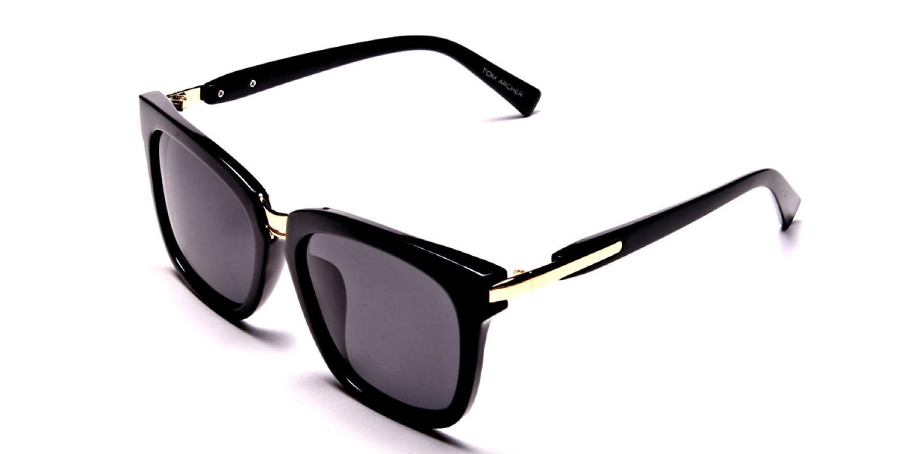 Women's Fashion Black Wayfarer Sunglasses - 2