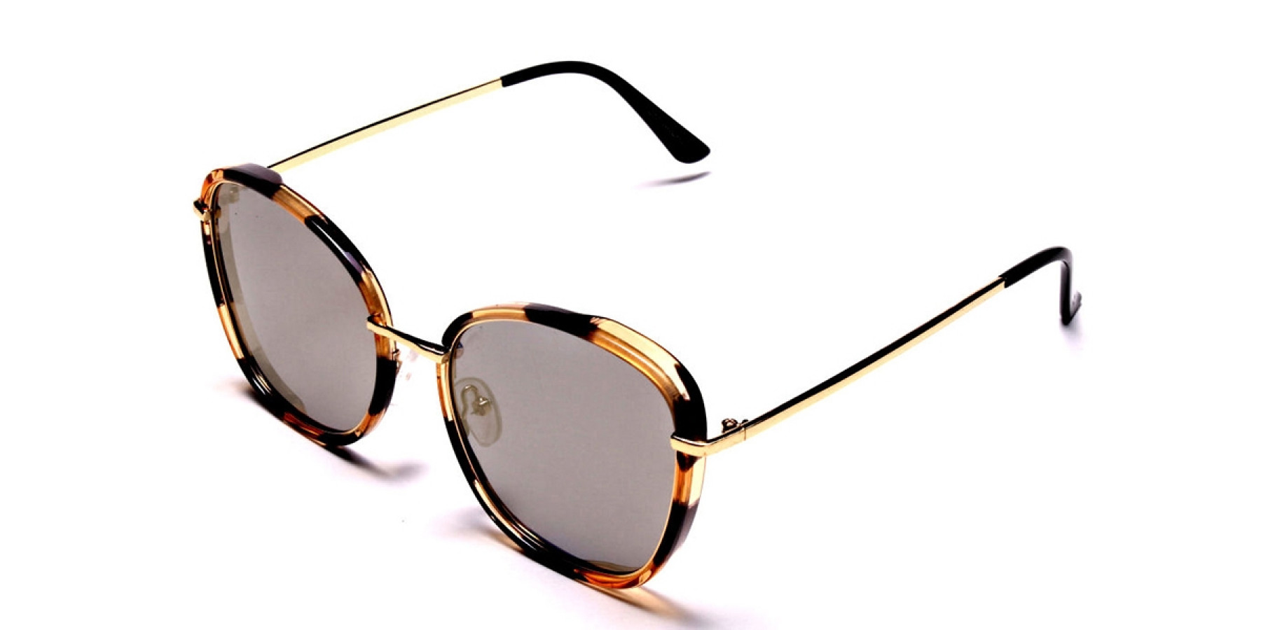 Havana & Tortoiseshell Oversized Sunglasses - 2