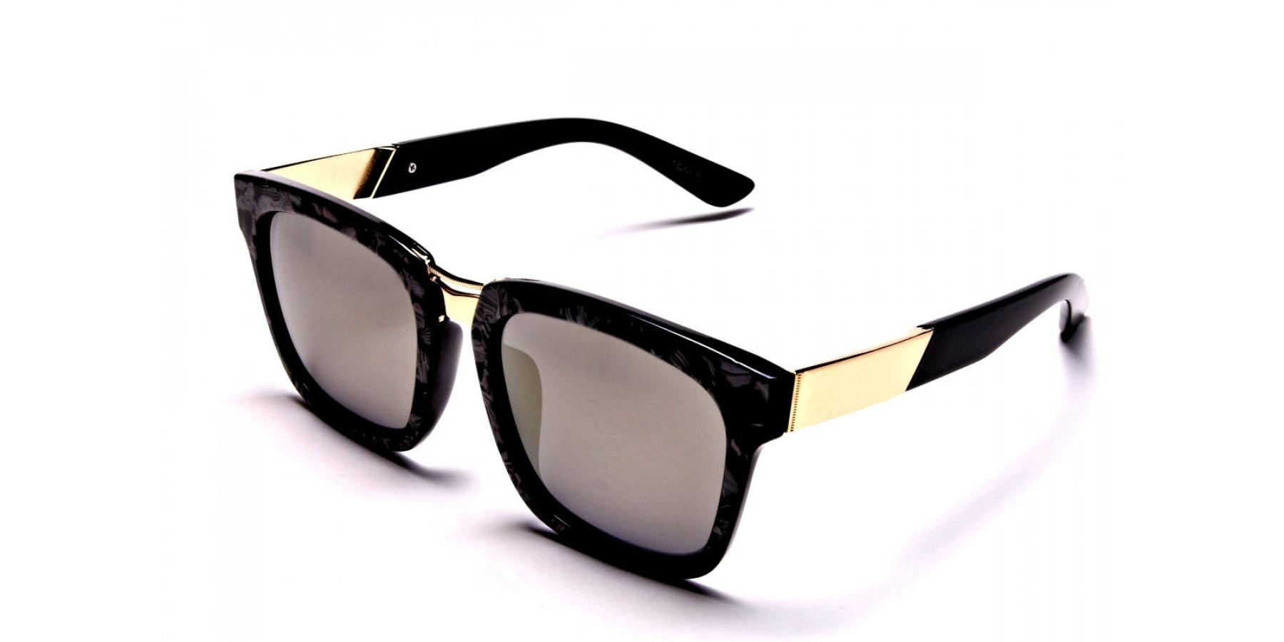 Black & Gold Sunglasses -2