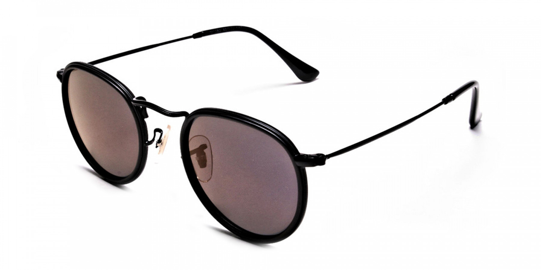 Purple Round Sunglasses for Men and Women - 2
