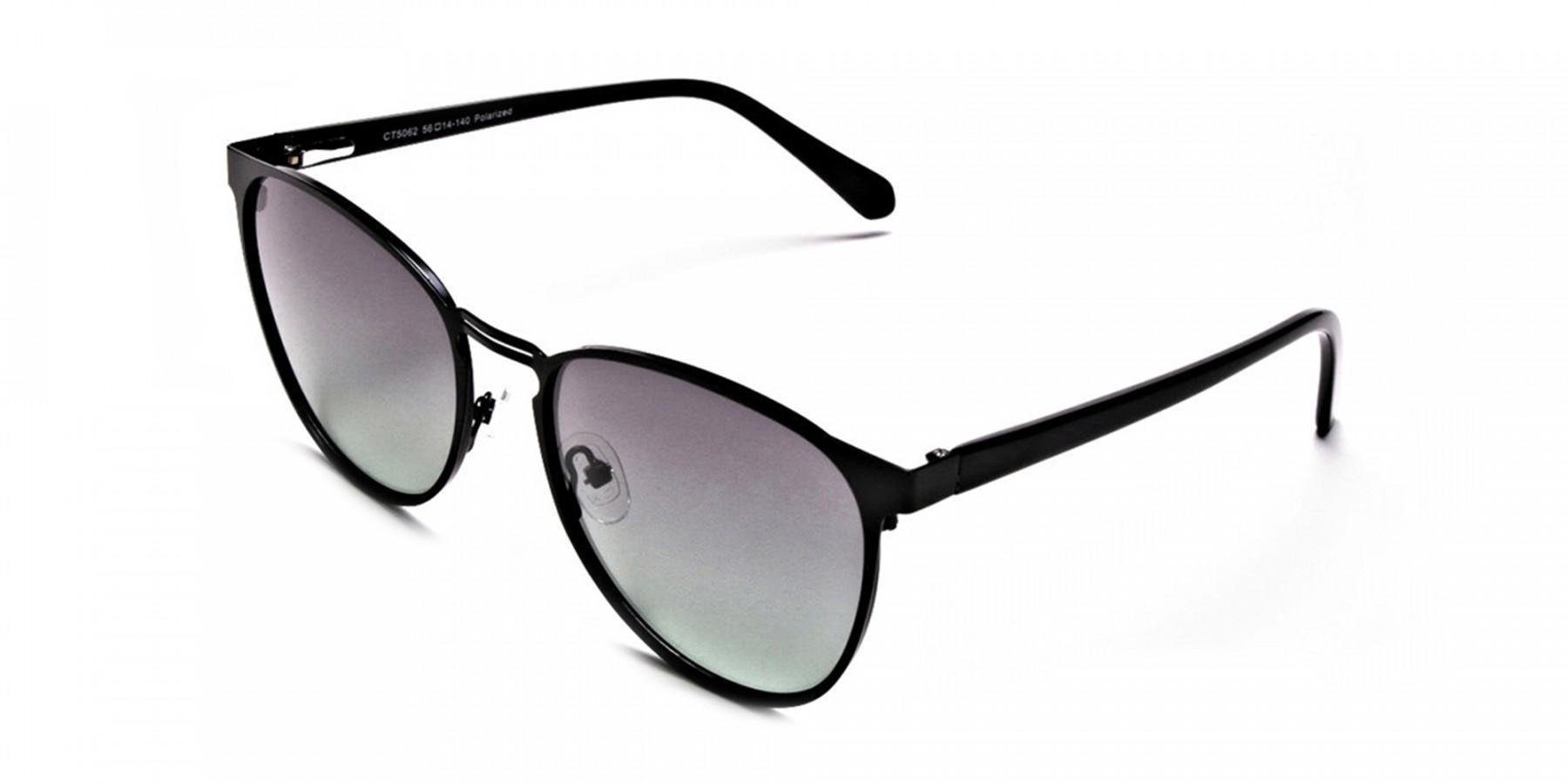 Black Green Tint Sunglasses -3