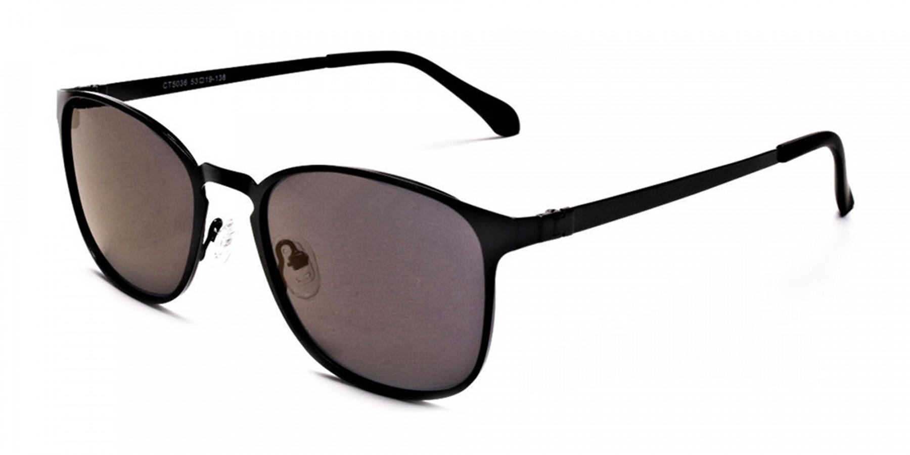 Purple and Brown Round Sunglasses - 2