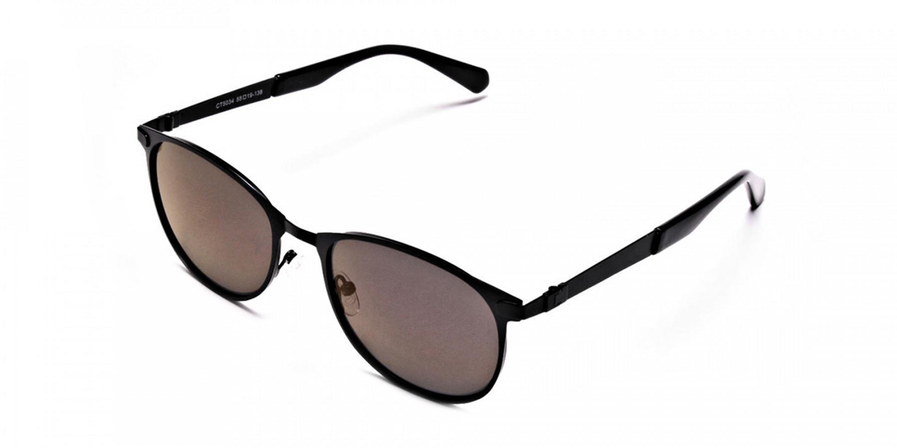Dark Black Purple Sunglasses-2