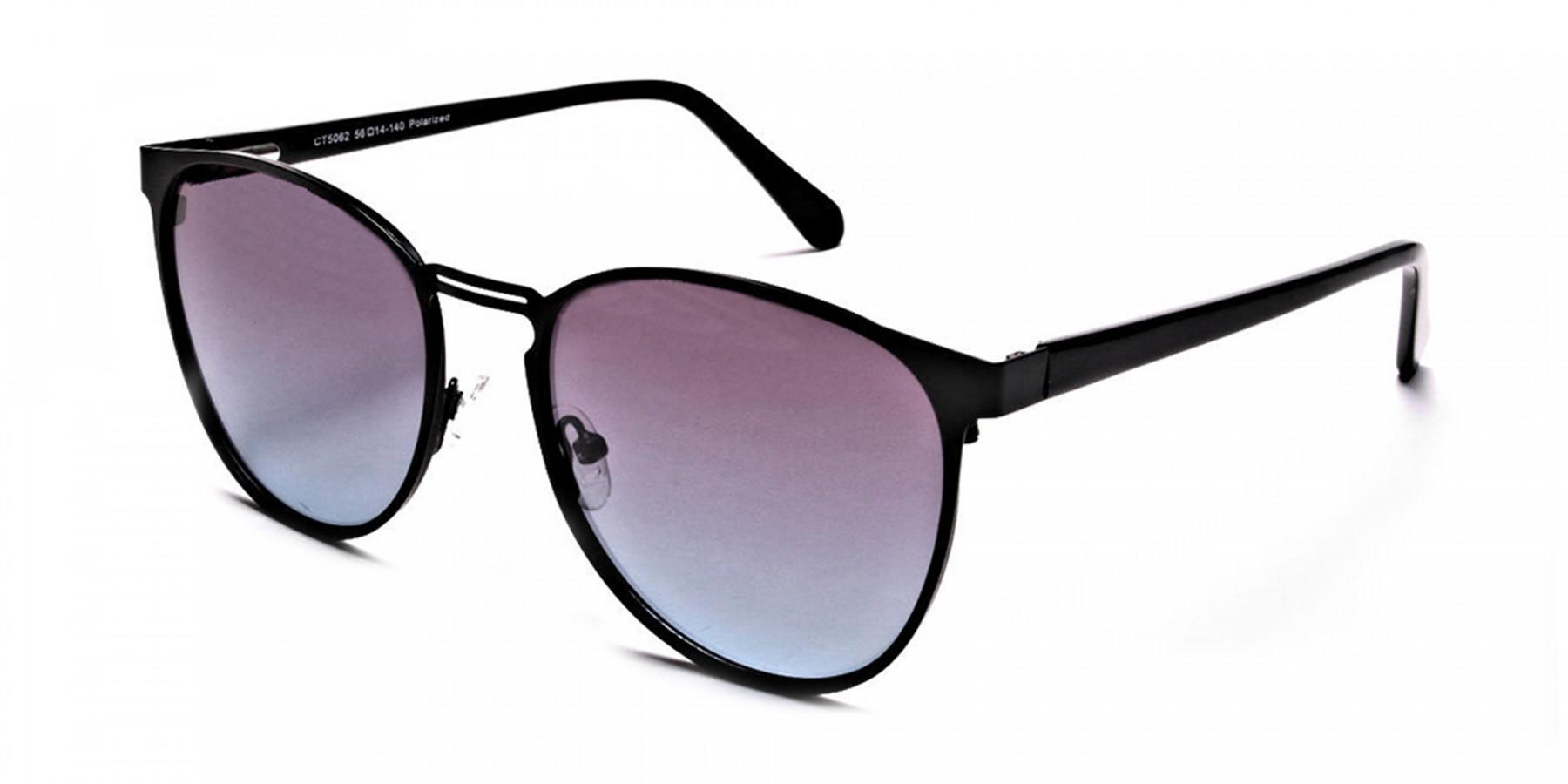 Black Round Sunglasses-3