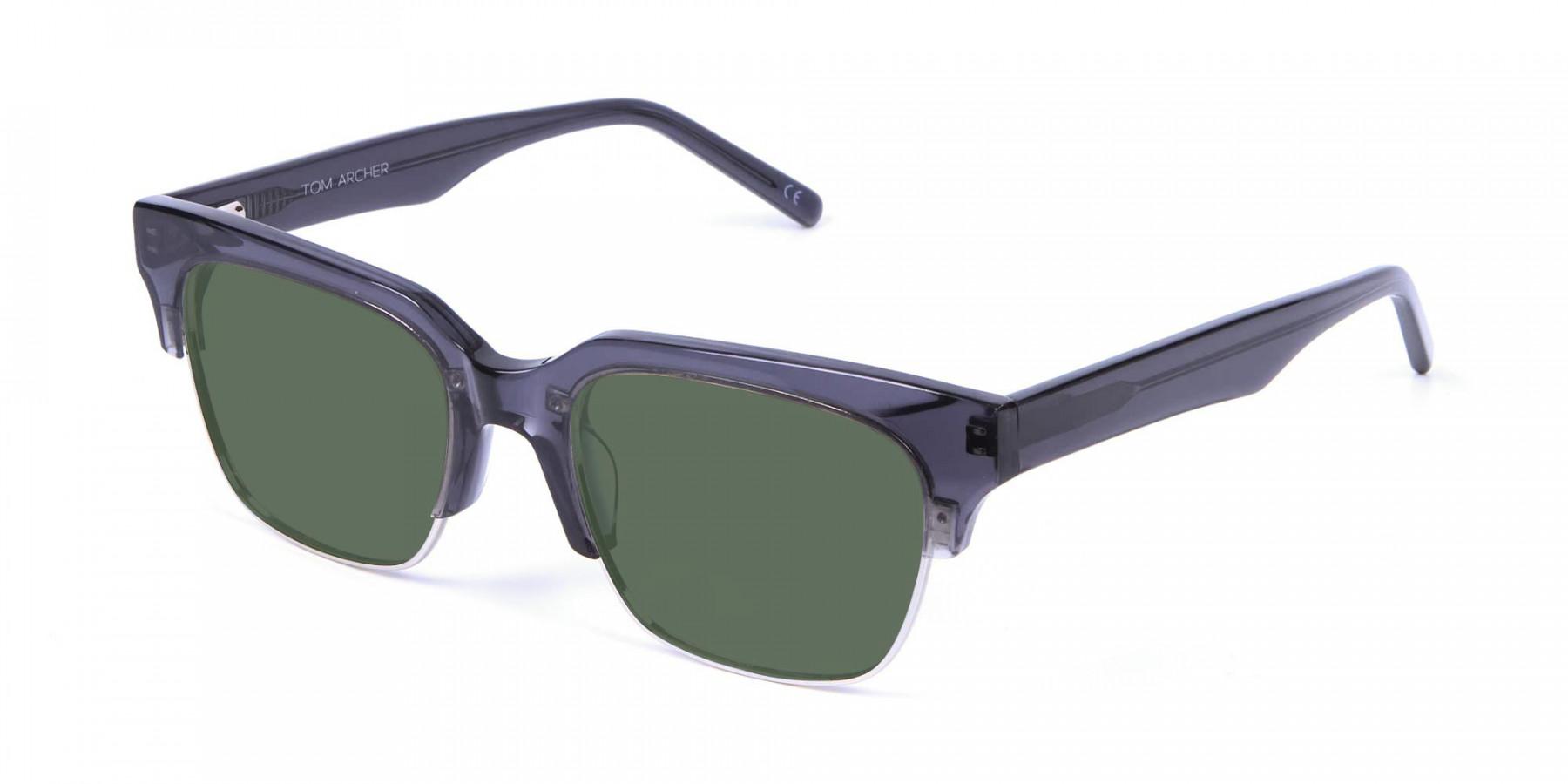 Silver Grey Frame Sunglasses - 3