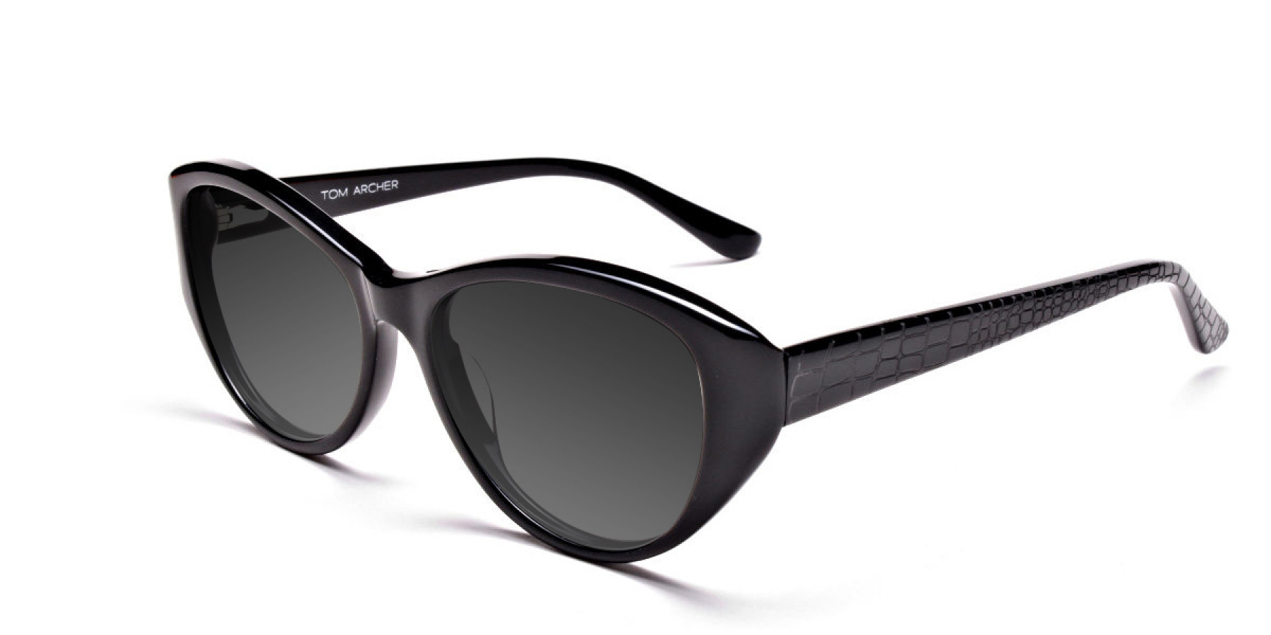 Women's Dark Grey Cat-Eye Sunglasses-3