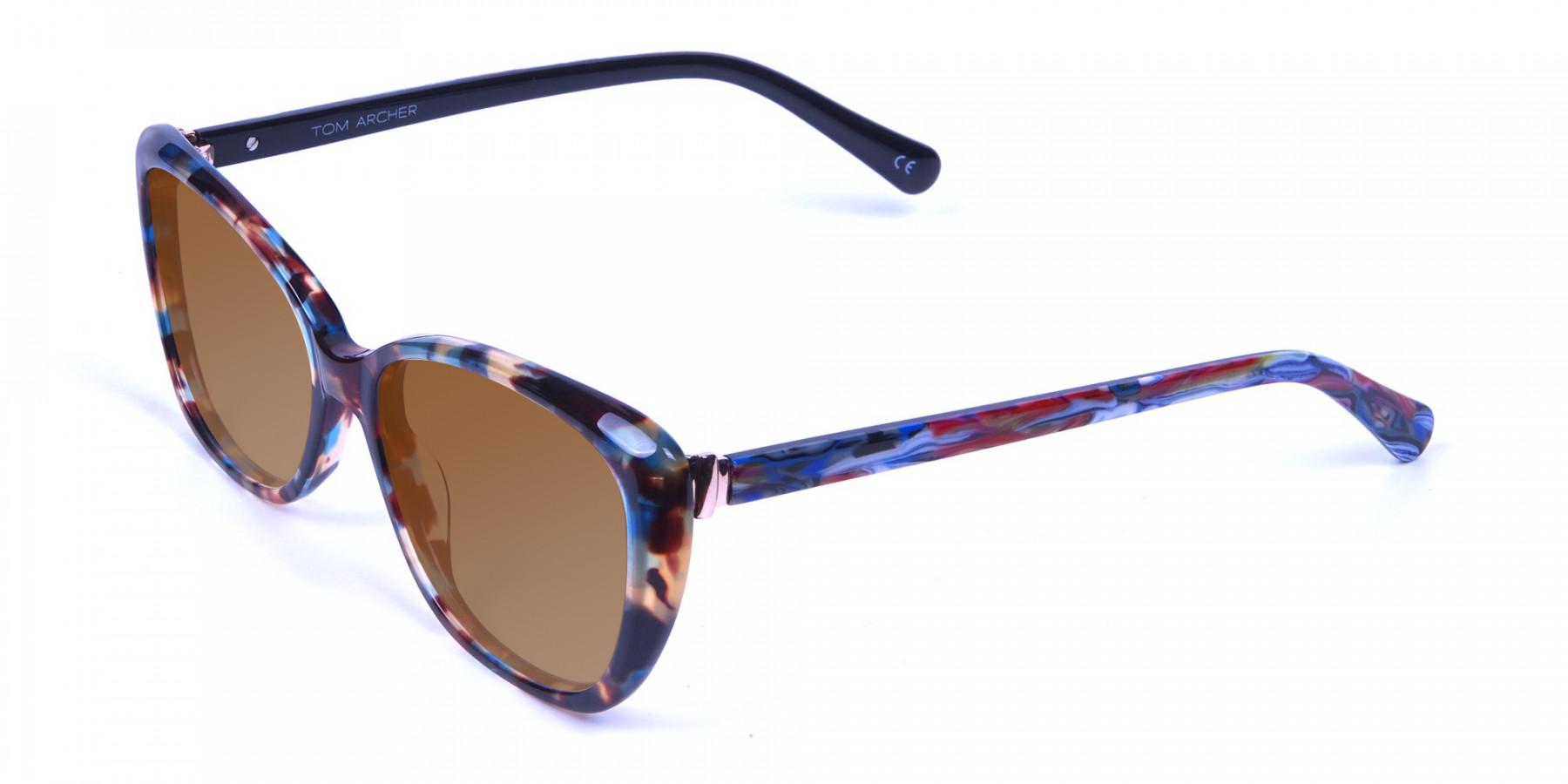 Women's Brown Tortoiseshell Sunglasses-3