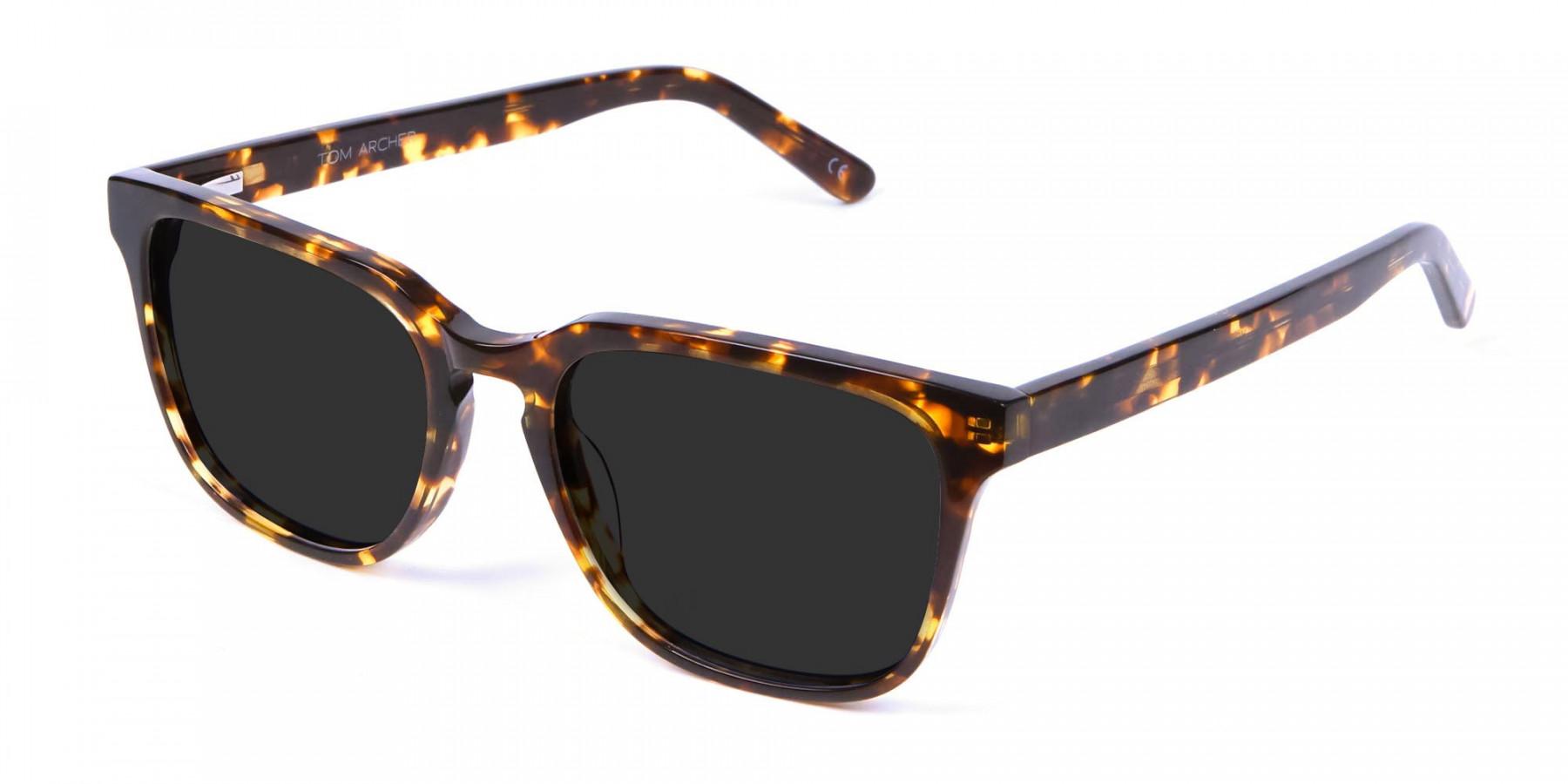 Oversized Square Sunglasses in Tortoiseshell  -3