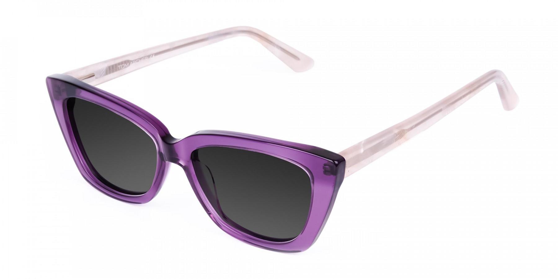 Purple-Cat-Eye-Sunglasses-in-Grey-Tint-3