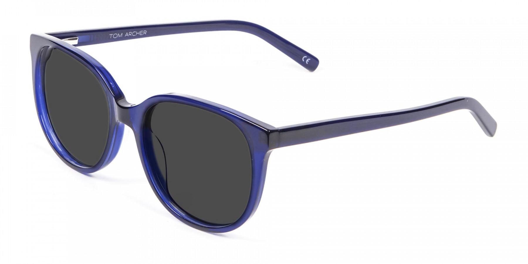 Blue Frame Sunglasses in Cat Eye - 3
