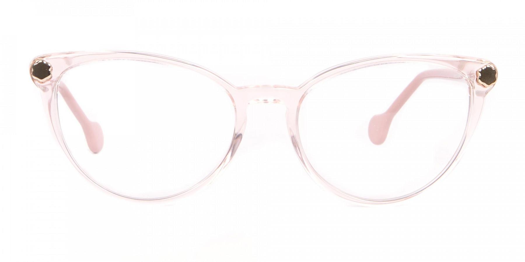 Salvatore Ferragamo SF2837 Women's Cateye Glasses Rosy Pink-1