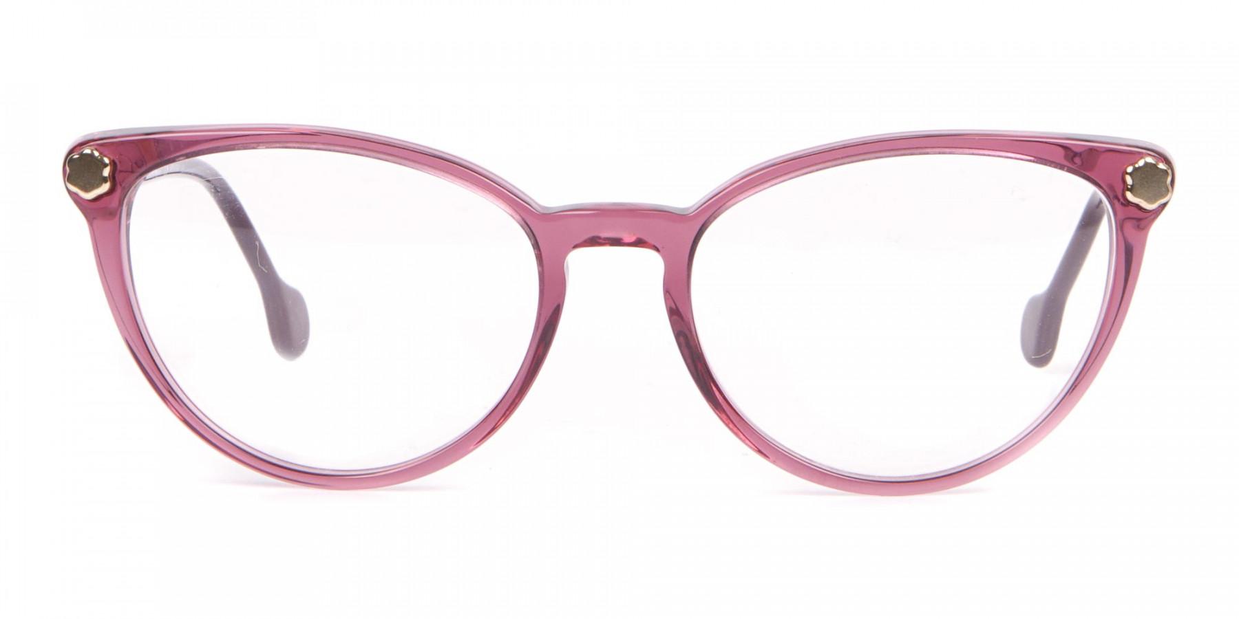 Salvatore Ferragamo SF2837 Women's Cateye Glasses Wine-1