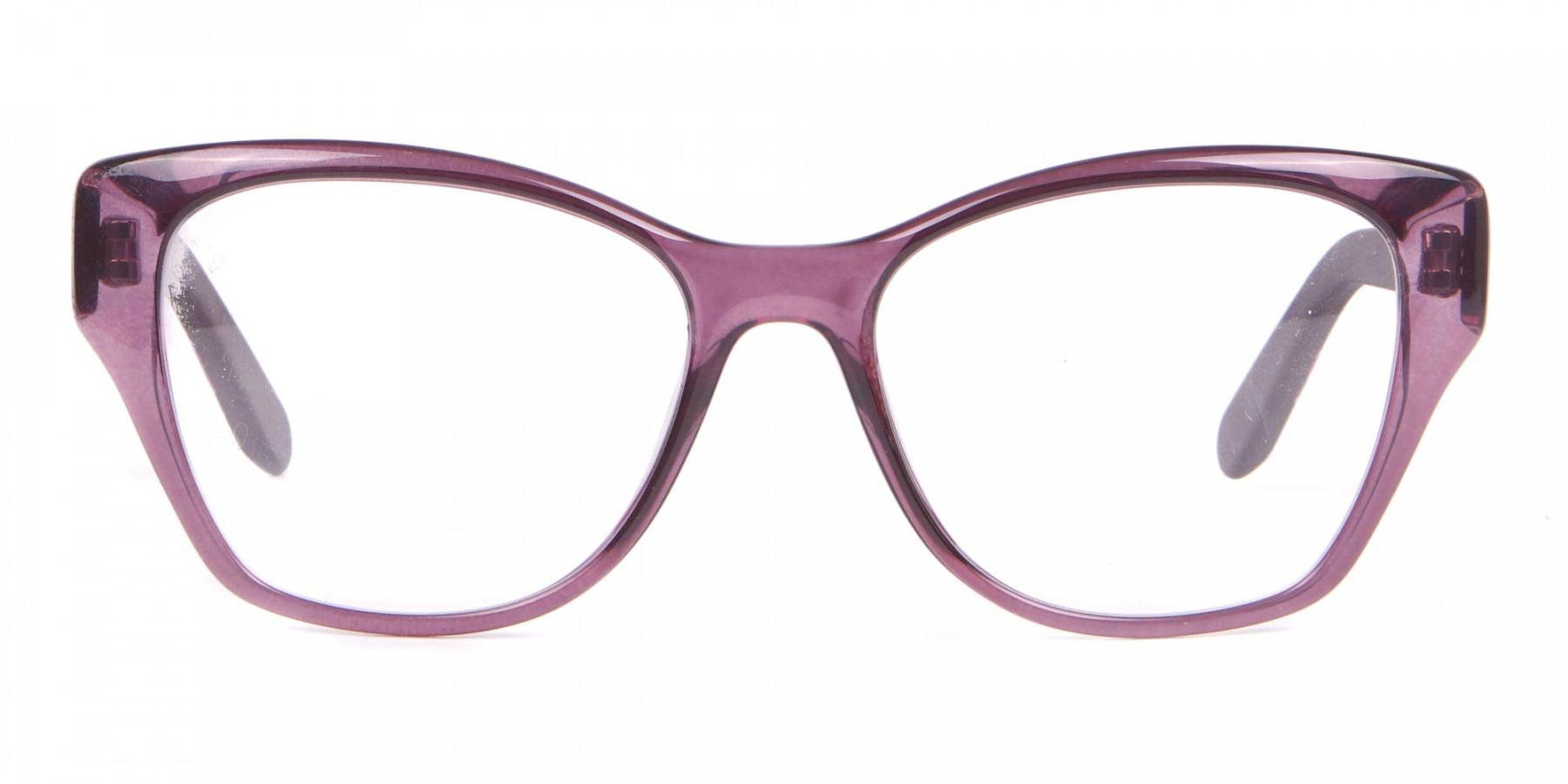Salvatore Ferragamo SF2827 Cateye Wayfarer Glasses Purple-1