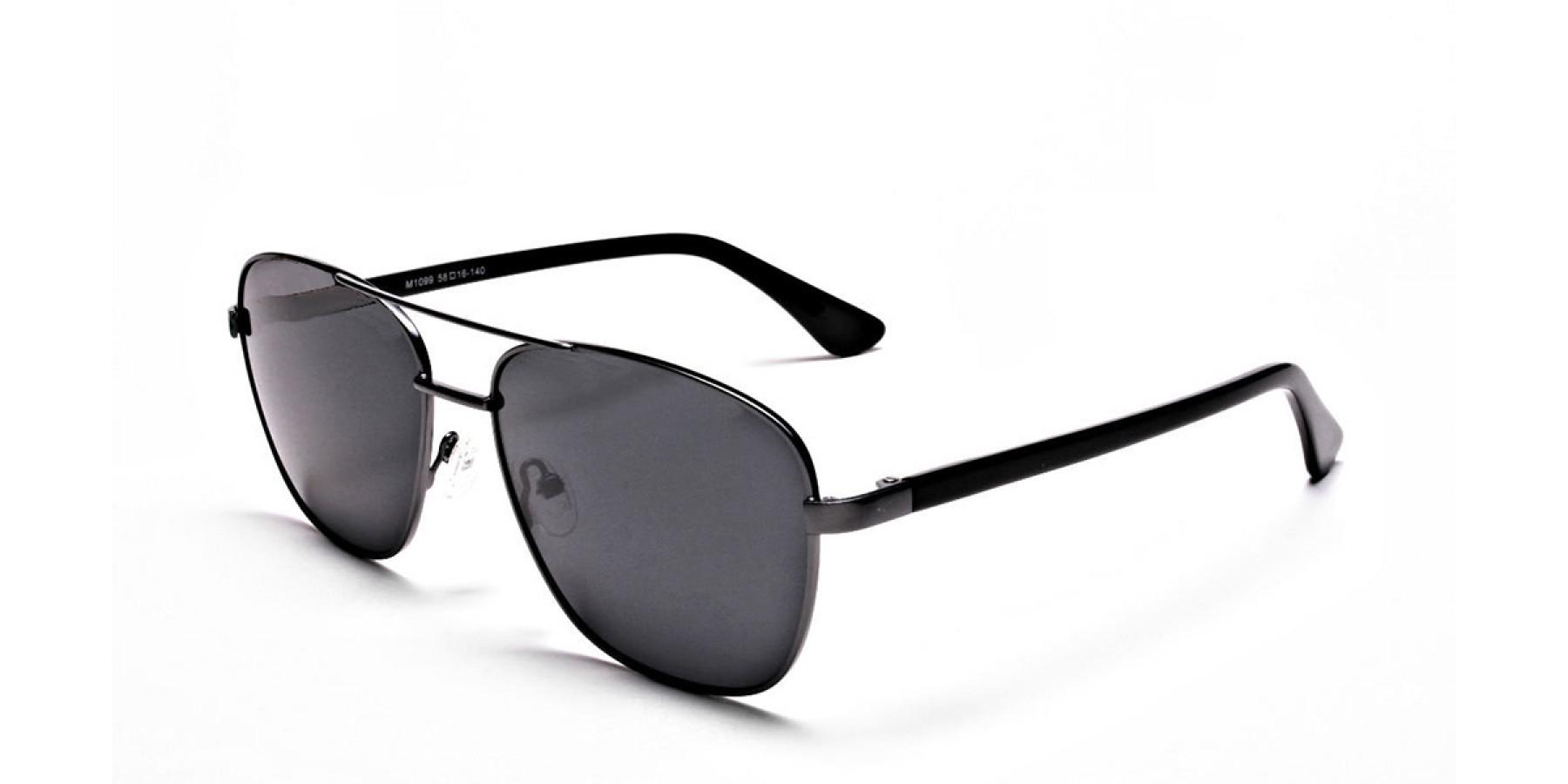 Gunmetal Framed Classic Sunglasses -3