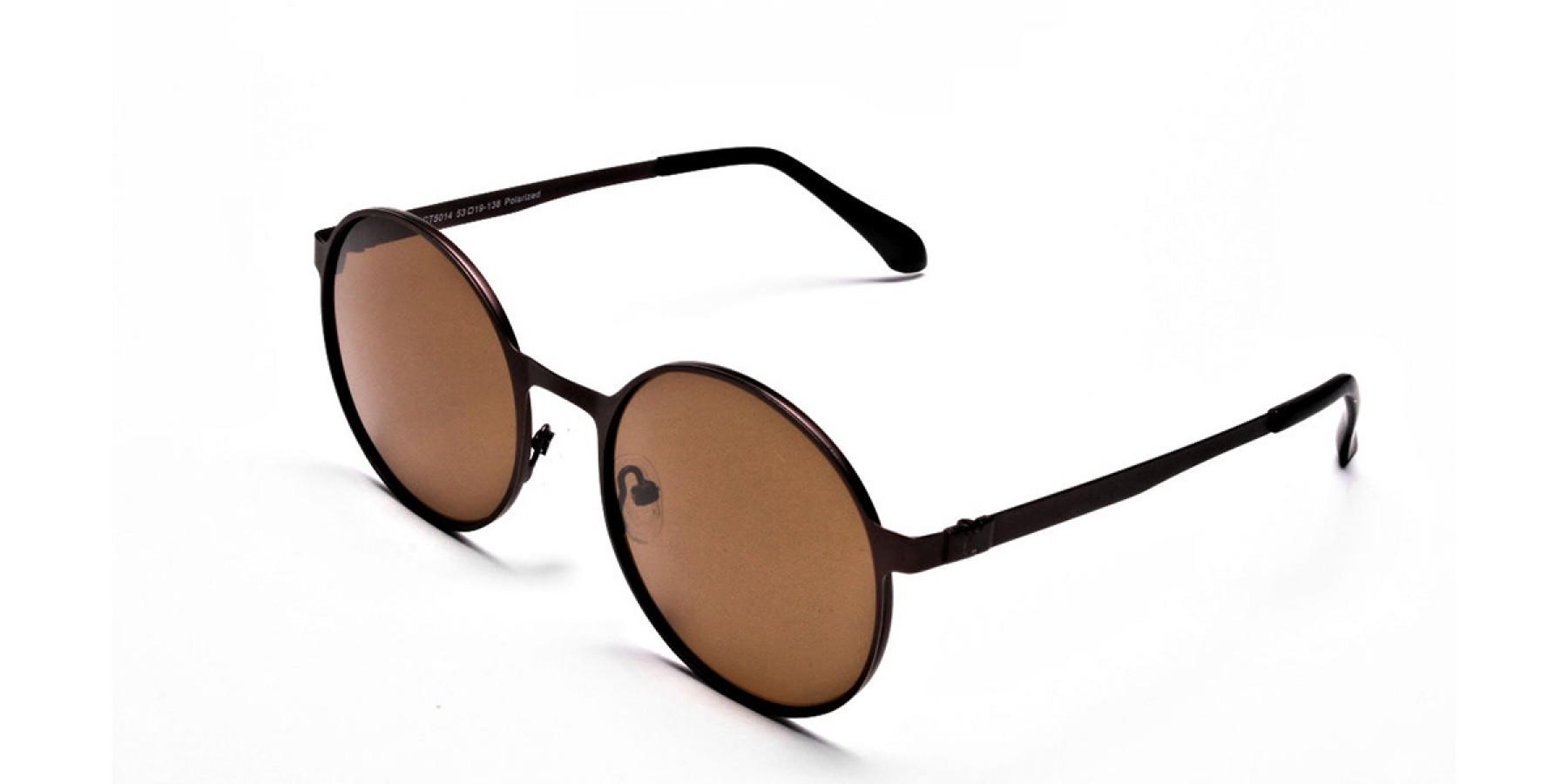 Brown Sunglasses in Round Online - 2