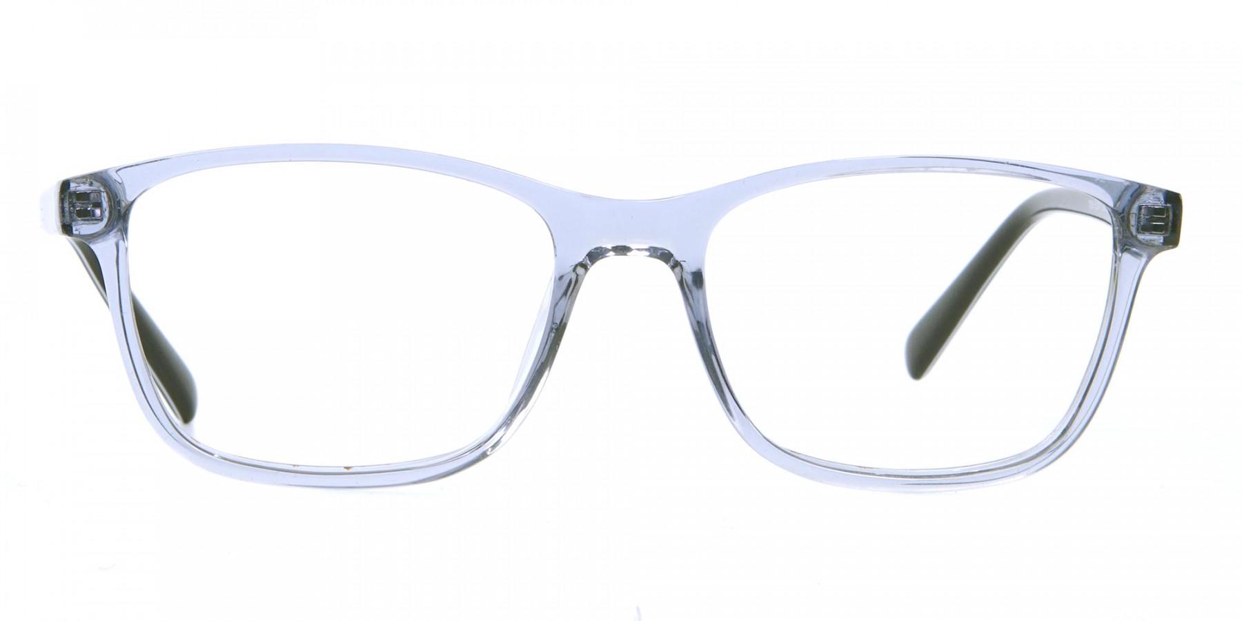Blue Transparent Glasses in Wayfarer for Men & Women