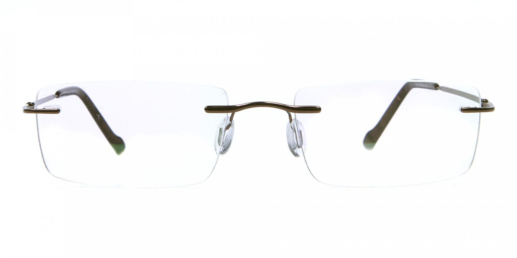 Rimless Glasses in Brown for Men & Women - 1