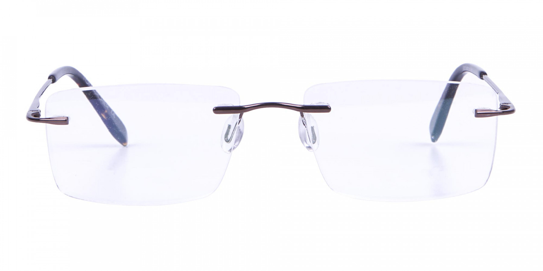 Invisible Brown Rimless Frames Online UK -1